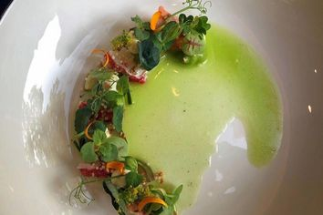 Foto: Tischnotizen im Restaurant Esplanade, Saarbrücken